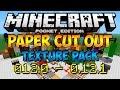 Texturas Para Minecraft PE 0.12.0, 0.12.1: PAPER CUT-OUT Texture Pack Para Minecraft PE