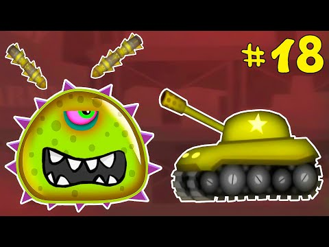 Лизун СЛИЗНЯК захватывает мир #18. Глазастик съел всех на ВОЕННОЙ БАЗЕ. Игра Mutant Blobs Attack