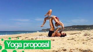 Man Proposes to Girlfriend During Beach 'Acro-yoga'