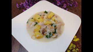 Суп с плавленным сыром курицей и рисом Рецепт сырного супа