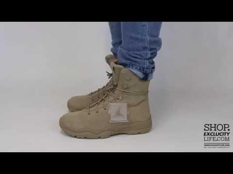 7d34667f20 Jordan Future Boot Khaki On feet Video at Exclucity