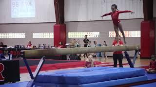 Gymnastics Level 3 Beam Routine, Rutgers Classic 2018