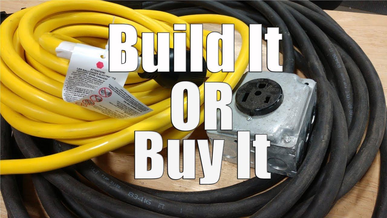 build or buy welding - generator electric power cords
