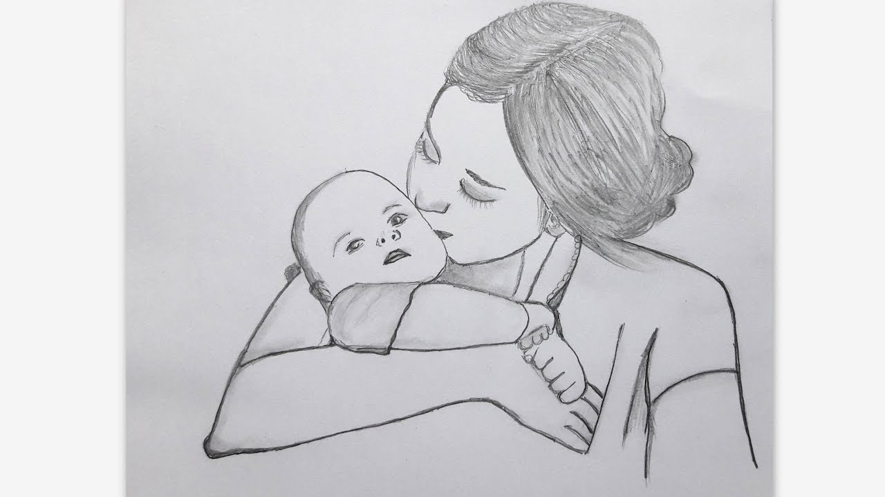 Легкие картинки карандашом мамы