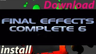 How to Download & Install Plugin Boris Final Effects Complete 6 AE