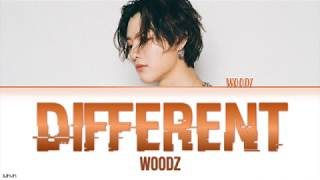 Gambar cover WOODZ - 'DIFFERENT' LYRICS [HAN|ROM|ENG COLOR CODED] 가사