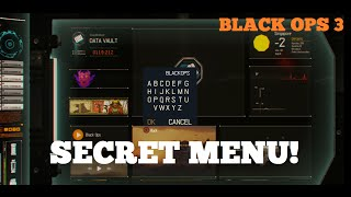 Call of Duty: Black Ops 3 - Secret Menu Found in Campaign