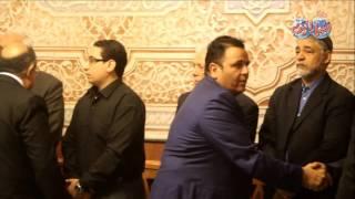 محمد فؤاد في عزاء الإعلامي أمين بسيوني