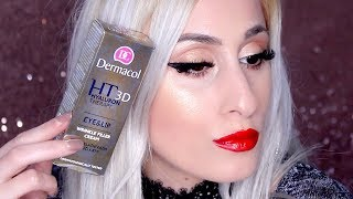 DERMACOL Hyaluron Therapy Eye and Lip Wrinkle Filler Cream || REVIEW, DEMO & Errythang !