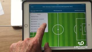 Pitch Locator for live & post game analysis: Performa Sports iPad app