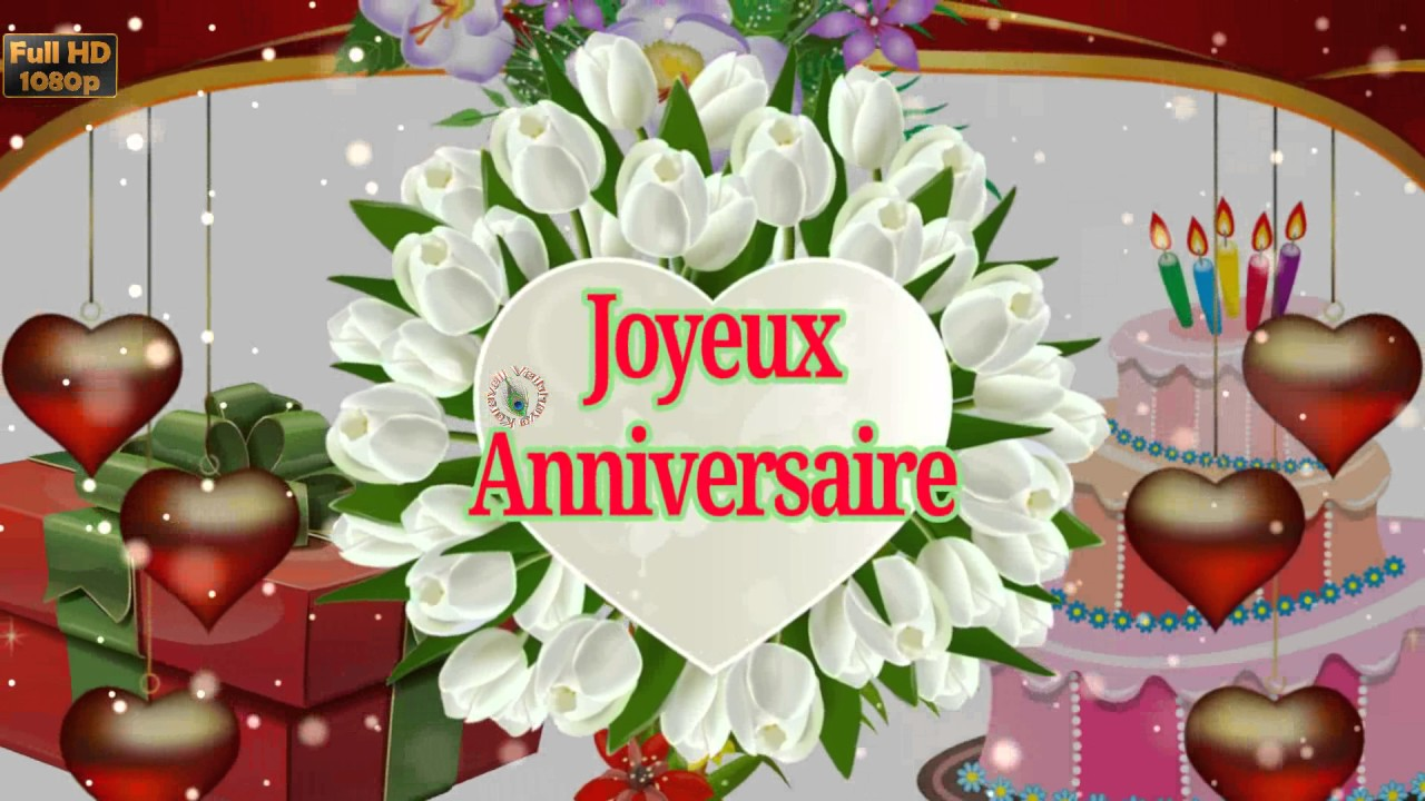 Birthday Wishes In French Greetings Messages Ecard Animation Latest Happy Video