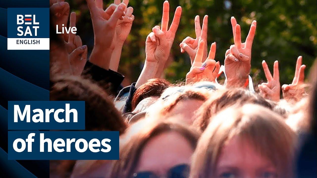 Download Revolution in Belarus. March of Heroes. September 13, LIVE (in Belarusian, without translation)