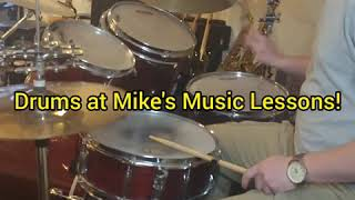 Drum Lessons at Mike's Music Lessons LLC!