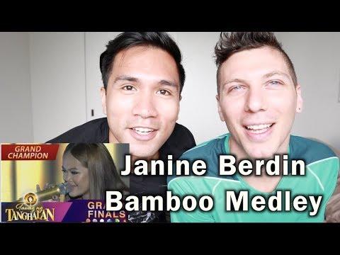 Tawag ng Tanghalan: Janine Berdin | Bamboo Medley (Final 3 Performance) | REACTION