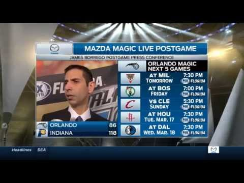 James Borrego after loss to Indiana Pacers