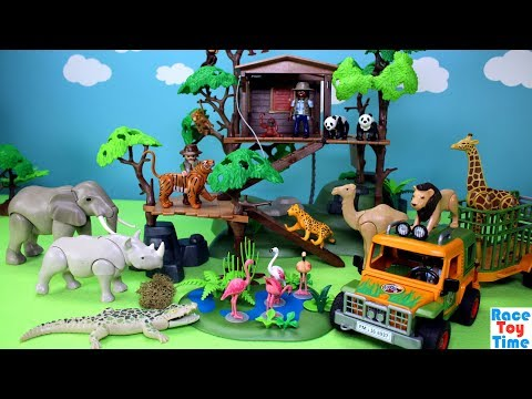 Thumbnail: Playmobil Animals Treehouse Playset Build and Play Toys For Kids