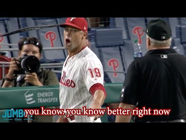 Ump throws out Phillies Pitcher and even the Dodgers argue it, a breakdown