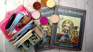 Coloring Alice in Wonderland with Pan Pastels