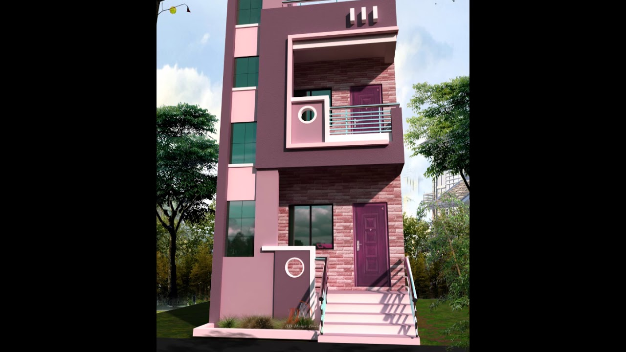 15 Feet Front House Design Youtube