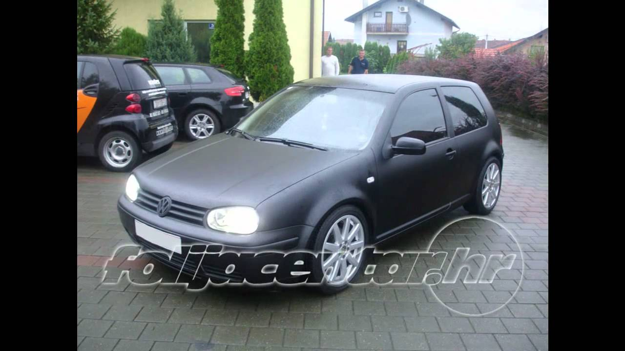 CHAMELEON VW GOLF IV CRNA MAT - YouTube