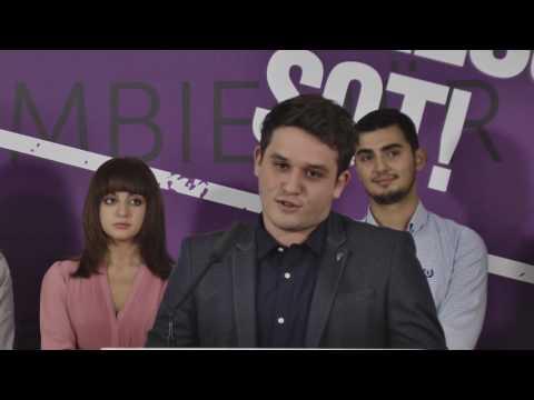 Report TV - Eljo Hyska kryetari i ri i Forumit Rinor Eurosocialist të Shqipërisë