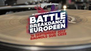 Battle Breakdance européen - Bagnols sur cèze - 16/09/12