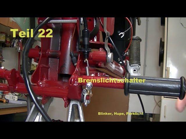 Projekt Simson Star Bj. 1974 Teil 22 Bremslichtschalter