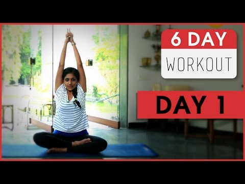 6 Day Workout With Rashmi | Day 1 | Simple Easy Exercises For Beginners