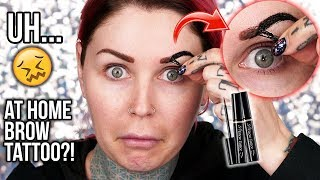 Seriously? AT HOME KOREAN EYEBROW TATTOO?! | KristenLeanneStyle