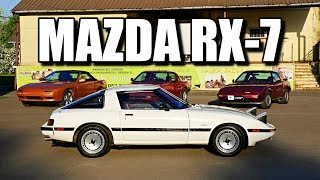 Mazda RX-7 FB 1985 (ENG) - Wankel Rotary Engine Classic Coupe - Test Drive and Review