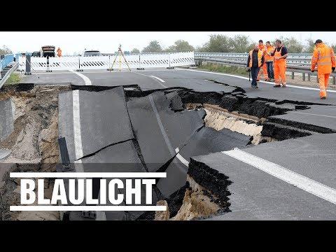 100 Meter Autobahn abgebrochen - A20 in Mecklenburg-Vorpommern