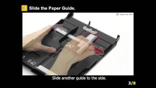 PIXMA MG7520: Setting A5 or larger paper (cassette 2)
