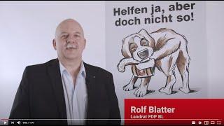 Statement Unternehmens-Verantwortungs-Initiative von Rolf Blatter, Landrat FDP BL