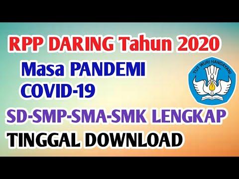 Download Rpp Daring Sd Smp Sma Lengkap Masa Pandemi Covid 19