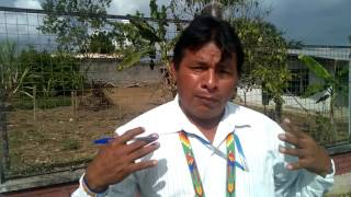 President of the Shuar Psha people, signs the Nature Nations Declaration of Independence
