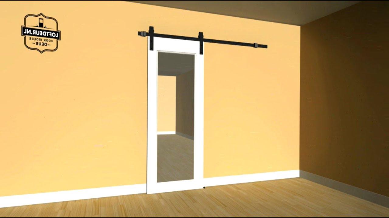 Schuifdeur maken met loftdeur schuifdeurbeslag montage video - Schuifdeur deur ...