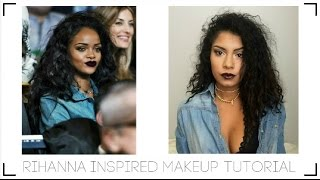 RIHANNA BASKETBALL GAME MAKEUP TUTORIAL | Indya Stovall