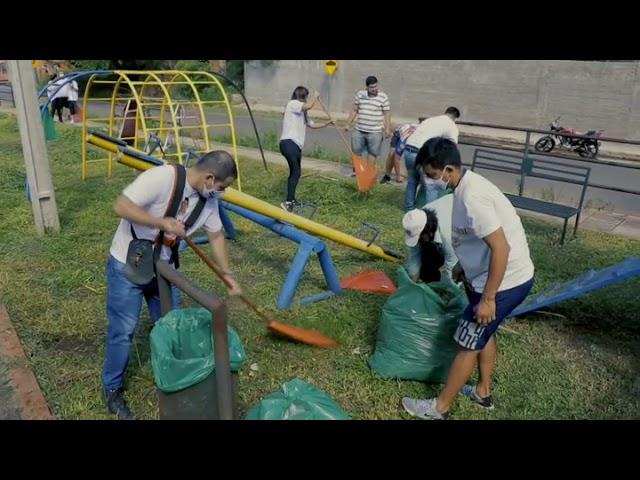 Velázquez encabeza minga ambiental en Luque