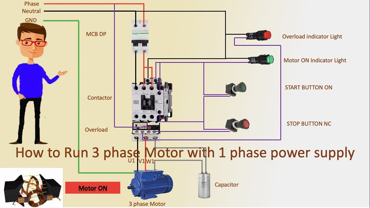 220 Volt Single Phase Wiring Diagram from i.ytimg.com