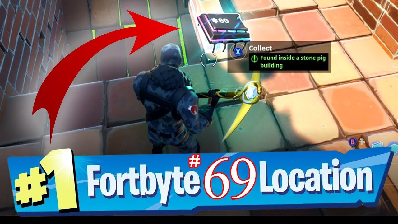 Where To Find Fortbyte 69 Found Inside A Stone Pig: Fortnite Fortbyte #69