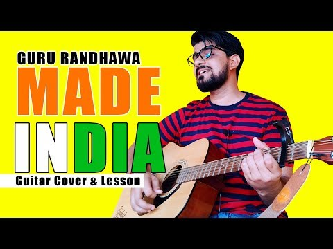 Made In India | Guru Randhawa | Guitar Cover and Lesson |Prakash Jangir