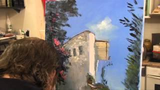 Средиземноморский мотив,научиться рисовать, Игорь Сахаров, живопись для начинающих, уроки рисования