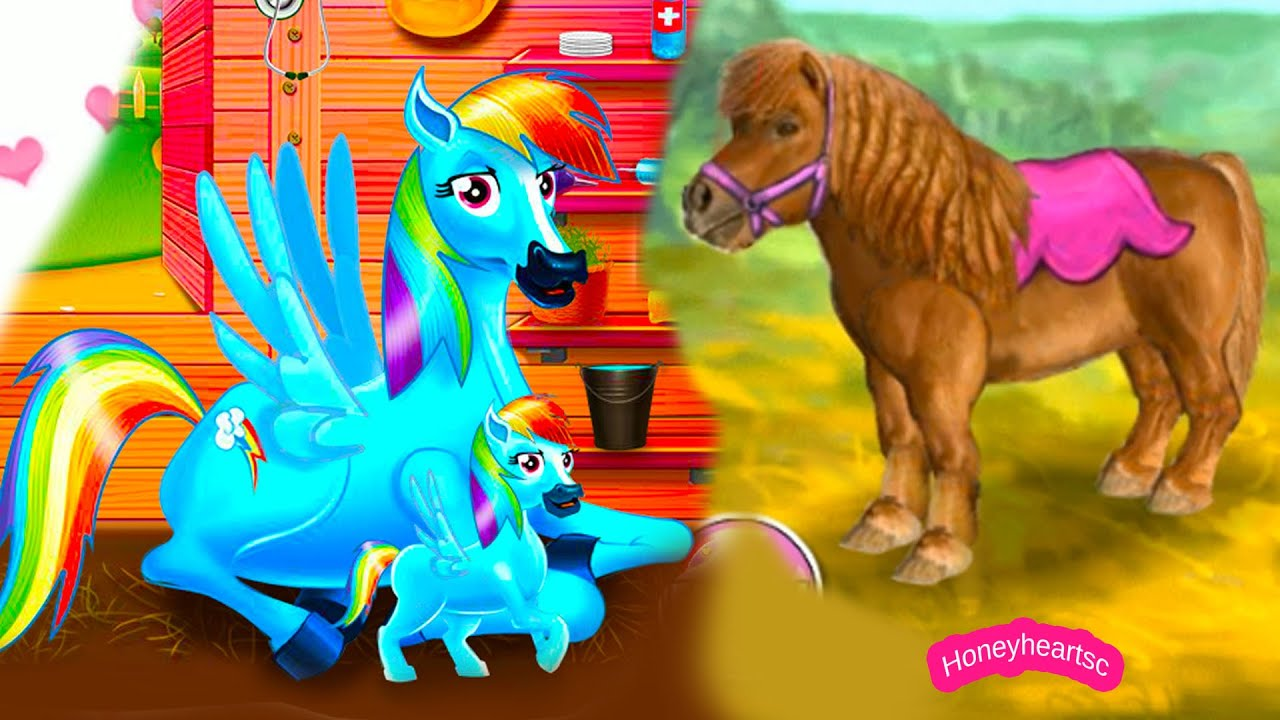 Rainbow Dash Baby + Jumping - Let's Play Online Horse ...