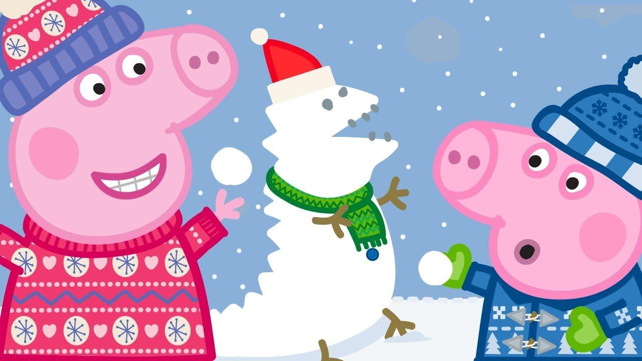 peppa wutz frohe weihnachten schnee peppa pig deutsch neue folgen cartoons f r kinder. Black Bedroom Furniture Sets. Home Design Ideas