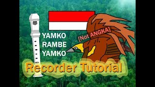 Not angka Yamko rambe Yamko mudah dan cepat [recorder tutorial]