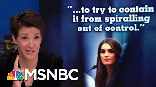 Hope Hicks Transcript Provides Window On 2016 Dual Trump Tape Crises | Rachel Maddow | MSNBC