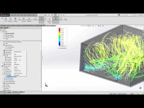 SOLIDWORKS - Flow Simulation and Contaminant Detection