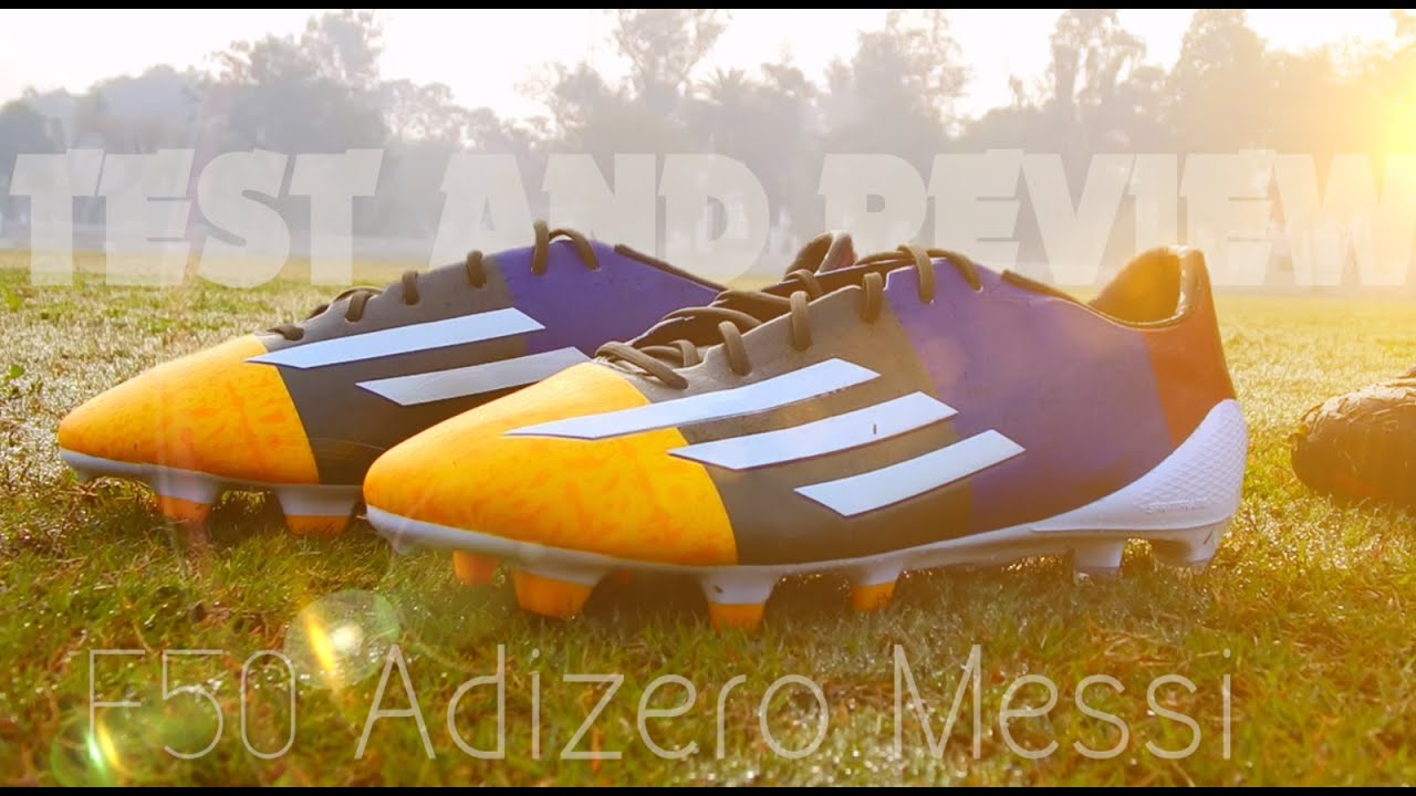 sports shoes e7f95 2a3da Adidas F50 Adizero MESSI  Blaugrana  TEST   REVIEW