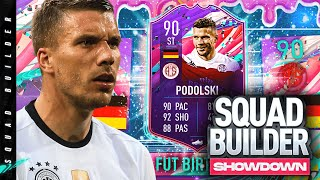 90 FUT Birthday Lukas Podolski Squad Builder Showdown!!!