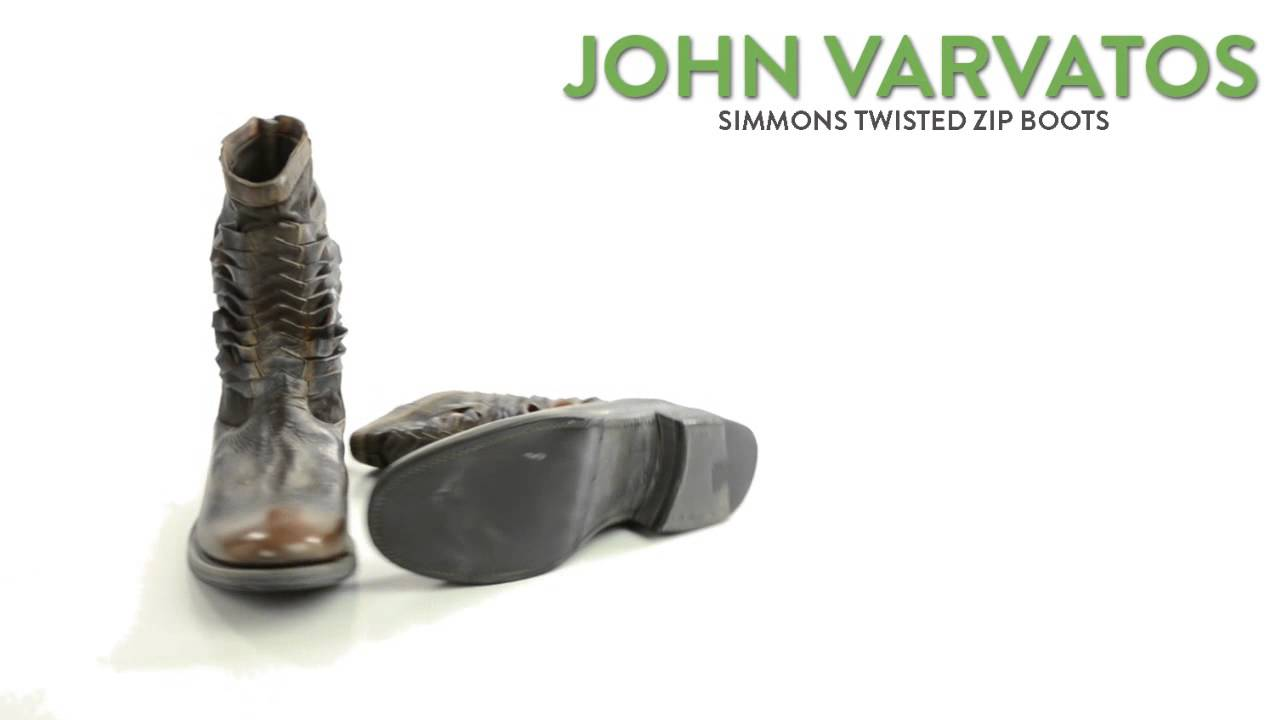 e69a251b7fd4 John Varvatos Simmons Twisted Zip Boots - Italian Leather (For Men ...